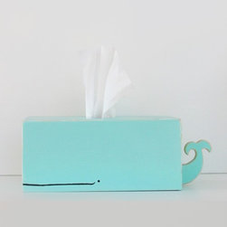 Whale Tissue Holder, Surf Blue by Sparkly Pony - This whale tissue holder is the perfect dose of cuteness to help you fend off that inevitable winter cold, don't you think?