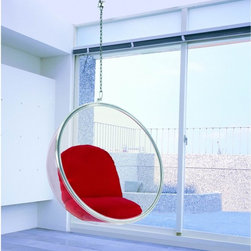 Bubble Hanging Chair, Red -