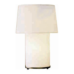 Mombo Table Lamp, White Linen