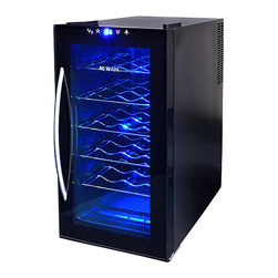 NewAir - NewAir Wine Cooler 18 Btl AW-180E - Enjoy the thrill of the chill! This trim, stylish thermoelectric wine cooler keeps 18 of you best bottles on hand at the ideal temperature. Cheers!