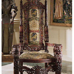 furniture - The Lord Raffles Lion Throne Chair