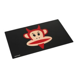 Paul Frank - PAUL FRANK Placemat, Black - Our colourful  happy monkey placemat in black from Paul Frank will brighten up any table. This placemat is perfect for all age groups to eat their dinner, because of it's funny design alternately they can also be used in your childrens room as a protective surface for writing or drawing.