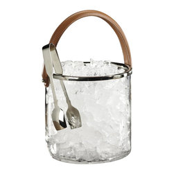 Zodax - Zodax Equestrian Ice Bucket Leather Handle - Zodax - Wine Racks - BAR135 - Equestrian Ice Bucket Leather Handle