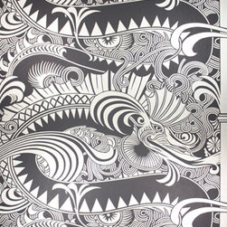 Chinese Dragon Wallpaper - A very opulent dragon and bamboo wallpaper from Osborne & Little.