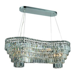 "PWG Lighting / Lighting By Pecaso - Chantal 14-Light 16"" Crystal Chandelier 6904D40C-RC - The unique design of the Chantal Collection inspires any room setting. Dazzling spectacles of light sparkles throughout the fixture creating a modern, yet timeless beauty and elegance."
