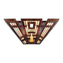 Quoizel Lighting - Quoizel TFCC8802 Classic Craftsman 2 Light Wall Sconce, Valiant Bronze - Long Description: Arts and Crafts is an enduring style that honors the tradition of fine craftsmanship and attention to detail. The piece pays homage to this timeless style, which is typified by straight lines forming squares and rectangles, along with the use of natural materials.
