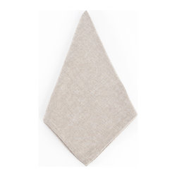Saro - Classic Dinner Napkin, Natural SET/6 - Classic Dinner Napkin, Natural SET/6