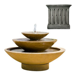 Campania International - Cascade Fountain - Alpine Stone (AS) - The Cascade Fountain (FT-131) from Campania International. A classic shape with