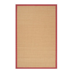 Surya - Surya Clinton Natural Fiber Woven Rug X-975-3009NLC - The natural beauty of the warm, earth-tone color, and the wide, cotton border in four natural colors, make our Clinton sisal area rug so beautiful. The natural fibers make them Eco Friendly, just another reason this extremely durable rug is so popular. Made from 100% hand woven sisal in India.