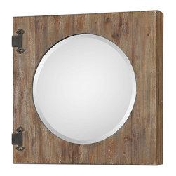 Uttermost - Uttermost 13825 Gualdo Aged Wood Mirror Cabinet - Uttermost 13825 Gualdo Aged Wood Mirror Cabinet