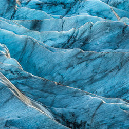 Images by Jon Evan - Glacier Blue - This 20x60 photograph was taken in Iceland at one of the glaciers. It measures 20x60 and is mounted on a hard backing ready to hang. Ships direct from manufacture