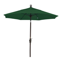 California Umbrella - 7.5 Foot Olefin Crank Lift Collar Tilt Aluminum Market Umbrella, Bronze Pole - California Umbrella, Inc. has been producing high quality patio umbrellas and frames for over 50-years. The California Umbrella trademark is immediately recognized for its standard in engineering and innovation among all brands in the United States. As a leader in the industry, they strive to provide you with products and service that will satisfy even the most demanding consumers.