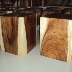 side tables and accent tables NATURAL CUBE