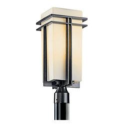 Kichler - Kichler 49207BKFL Traditional 1 Light Fluorescent Up Light Outdoor Post Light - Kichler 49207FL Fluorescent Tremillo Outdoor Post Lantern