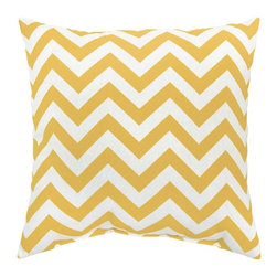None - Zags Yellow Outdoor Accent Pillows (Set of Two) - Add a touch of contemporary style and comfort to your outdoor furnishings with these accent pillows. These pillows are overstuffed with a soft 100-percent polyester fill and have a durable weather resistant and UV protected cover.