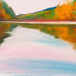 """Ann Rea - Bring home the Russian River with """"Quiet Shore"""" by Ann Rea,  oil painting - """"With dusk comes quiet and stillness in the water."""" -Ann Rea"""