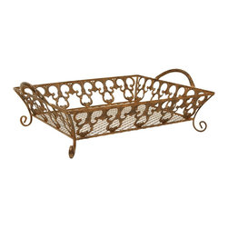 Sterling Industries - Sterling Industries Tuscania Tray X-3413-79 - This Sterling Industries Tuscania Tray is a great catch-all tray perfect for small trinkets next to the bed, or mail in the foyer. Whatever you use it for, you'll find it's classic design elements and versatile gold-toned finish allow it to seamlessly compliment any home decor scheme.