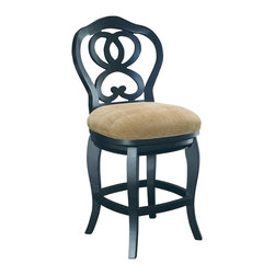 Hammary - Hammary T73184-22 Hidden Treasures Counter Height Barstool in Black - The Hidden Treasures collection is a fabulous assortment of one-of-a-kind accent pieces inspired by the greatest furniture designs from around the world. Each selection is a true treasure - rich in old world icons and traditions. All the pieces in this collection are crafted with attention to every detail. From brass nailhead trim and exquisite hand-painting to elegant shaping and decorative trim, every item is a unique work of art. A wide variety of materials is used to create the perfect look and finest quality - from exotic woods, leather and stone to raffia and glass. The huge selection of finishes, hardware, exceptional carvings and other final touches offer unsurpassed versatility for any room in the home. Hidden Treasures includes cocktail tables, occasional and accent pieces, trunks, chests, consoles, wine racks, desks, entertainment units and interesting storage pieces. Place one in a comfortable reading nook... In the family room for flair and variety... In the foyer for a welcome look... In a bedroom for cozy style... Or in the office for function and versatility. The pieces in this collection mix beautifully with any decorating style and will easily become the focal point in any setting.