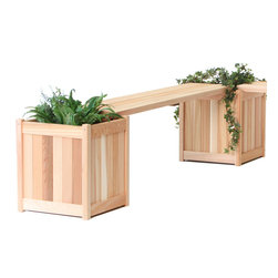 All Things Cedar - All Things Cedar PLB60U 5'  Planter Bench - Backless Bench add on for the PL20 Planter - Great Additional Seating for deck or yard    Dimensions:  60 x 13 x 1.5 in. (w x d x h)     This product is the bench only and does not include the planters.