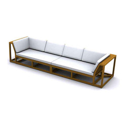 Westminster Teak Furniture - Maya Designer Teak Sectional Furniture - Maya Large Designer Teak Sectional Sofa Set, Modular Design, Upscale Sophistication.  Rated Best Overall by Wall Street Journal.