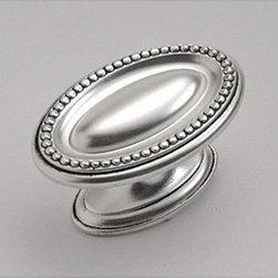 "Altair Knob - 1 3/4"" Knob in Satin Antique Silver Finish"