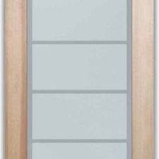 Modern Interior Doors by Sans Soucie Art Glass