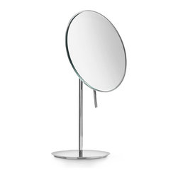 WS Bath Collections - Mevedo 55943 Magnifying Mirror 3X - Mirror Pure by WS Bath Collections Mevedo Makeup/ Magnifying Mirror 5.1 Ø Free Standing in Polished Chrome. Mahnifying 3X