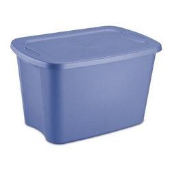 Sterilite - Sterilite 18 Gallon Tote Box, Blue (8 Pack) (18304308) - Sterilite 18304308 18 Gallon Tote Box, Blue (8 Pack)