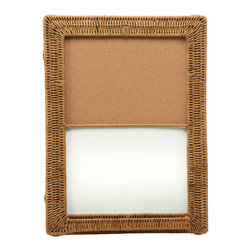 KOUBOO - Magnetic Dry-Erase and Cork Board With Wicker Frame - Take note! Natural cork and wicker lend a pleasing look to your everyday reminders. Hang this board in the kitchen, office or a child's room to add a homespun touch.