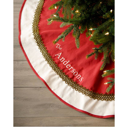 Traditional Christmas Tree Skirts by Neiman Marcus