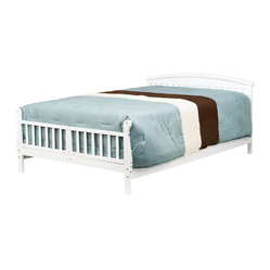 Elizabeth II Convertible Toddler Bed, White
