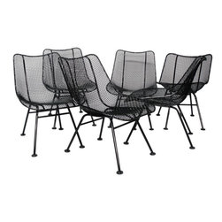Wrought Iron Mesh Dining Chairs by R. Woodard - $3,600 Est. Retail - $1,750 on C -