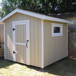 Kstar sheds - Here is a simple traditional style wooden shed built by Kstar Construction in one day. Please contact me for any information.