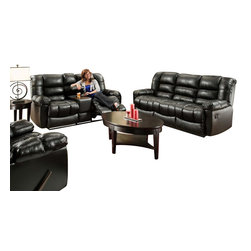 Chelsea Home Furniture - Chelsea Home Orleans Reclining 3-Piece Living Room Set in New Era Black - Orleans Reclining 3-Piece Living Room Set in New Era Black belongs to the Chelsea Home Furniture collection