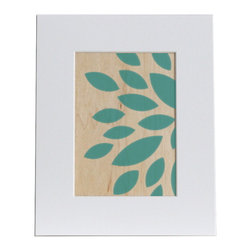 nest PURE by PURE Inspired Design - Dahlia Wood Print in Teal, 5x7 - Collection:  PURE Prints