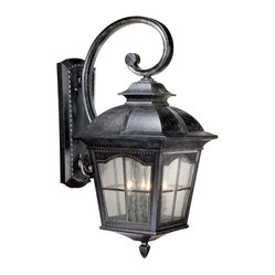 Vaxcel Lighting - Vaxcel Lighting VX-AD-OWU130BP Arcadia Traditional Outdoor Wall Sconce - Vaxcel Lighting VX-AD-OWU130BP Arcadia Traditional Outdoor Wall Sconce