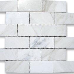 "2""x4""  Calacatta Gold Brick Mosaic - Polished - 2""x4""  Calacatta Gold Brick Mosaic | Polished"