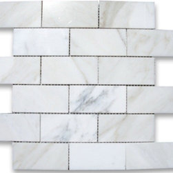 "2""x4""  Calacatta Gold Brick Mosaic - Polished - 2""x4""  Calacatta Gold Brick Mosaic 