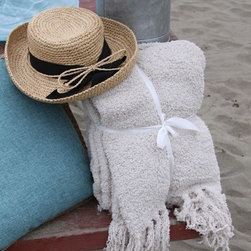 Morning Glory Hat - This adorable hat can be worn anywhere, to a party, to the beach or in the garden.
