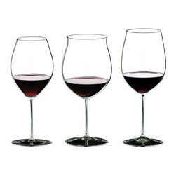 Riedel - Riedel Sommeliers Anniversary Red Wine Tasting Set of 3 Glassses - Host a home tasting to show off your fine wine collection. This set of lead crystal wineglasses will set the tone in superb style.