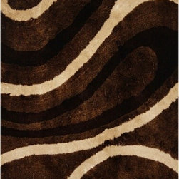 Rug Factory - Shaggy Design 8002Waves 4' x 6' Size Area Rug - Shaggy design 8002 waves 4' x 6' size area rug. These shags offer a dense, shed free, easy to clean and sensuously soft surface that is sure to be a toe curling pleaser. Vibrant colors, geometric patterns and designs. are hand tufted using a blend of ultra fine raw materials for a plush and soft feel.