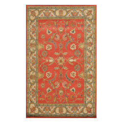 """Dynamic Rugs - Dynamic Rugs Sapphire 4950-200 (Rust, Ivory) 3'6"""" x 5'6"""" Rug - This Hand Tufted rug would make a great addition to any room in the house. The plush feel and durability of this rug will make it a must for your home. Free Shipping - Quick Delivery - Satisfaction Guaranteed"""