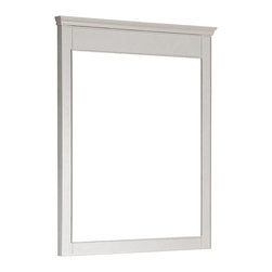 """Lamps Plus - Contemporary Avanity Windsor 38"""" High Large White Wall Mirror - Avanity Windsor 38"""" High Large White Wall Mirror Solid poplar wood frame large wall mirror. White finish frame and simple lines. Beveled mirror glass. Easy hanging with cleat on back. Includes mounting hardware. Vertical hang only. 34"""" wide. 38"""" high. 2"""" deep.  Solid poplar wood frame large wall mirror.  White finish frame and simple lines.  Beveled mirror glass.  Easy hanging with cleat on back.  Includes mounting hardware.  Vertical hang only.  34"""" wide.  38"""" high.  2"""" deep."""