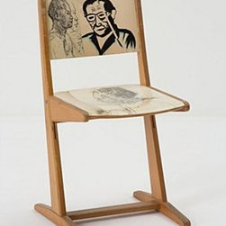"""Swarm - Drawing Study Chair - One of a kindWood34""""H, 18""""W, 17""""DSeat: 18""""HHandmade in Netherlands"""