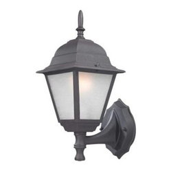 Design Outdoor Lanterns. Traditional Wall-Mount 14.25 in. Black Outdoor Lantern