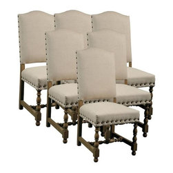 EuroLux Home - New Dining Chair Madrid Set 6 Fabric - Product Details