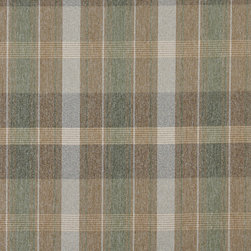 Brown Green And Ivory Large Plaid Country Tweed Upholstery Fabric By The Yard - This upholstery fabric has the look and feel of a cabin or lodge. This fabric is rated heavy duty, and is great for all indoor upholstery uses.
