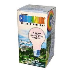 Chromalux Lumiram Full Spectrum 3 Way 50/100/150 Watts - Frosted - 1 Light Bulb - Color Correct