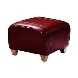 """Manhattan Ottoman, Leather Berry Red - With its signature blend of quality, value and style, our Manhattan Ottoman is a Pottery Barn classic. It pairs perfectly with our Manhattan Leather Club Chair. 24"""" w x 20"""" d x 16"""" h {{link path='pages/popups/PB-FG-Manhattan-3.html' class='popup' width='720' height='800'}}View the dimension diagram for more information{{/link}}. {{link path='pages/popups/PB-FG-Manhattan-4.html' class='popup' width='720' height='800'}}The fit & measuring guide should be read prior to placing your order{{/link}}. Ottoman has a polyester-wrapped cushion. Proudly made in America, {{link path='/stylehouse/videos/videos/pbq_v36_rel.html?cm_sp=Video_PIP-_-PBQUALITY-_-SUTTER_STREET' class='popup' width='950' height='300'}}view video{{/link}}. For shipping and return information, click on the shipping info tab. When making your selection, see the Quick Ship and Special Order leathers below."""