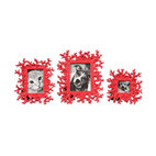 Uttermost - Red Coral Photo Frames Set/3 - Celebrate the sea with this fabulous set of faux-coral frames. The gleaming, bright red finish is particularly suited to your black and white photos.